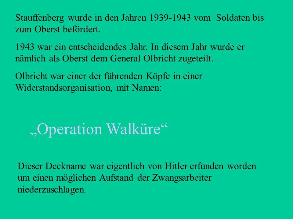 - Stauffenberg war ein katholisch erzogener Mensch - Er befürwortete das nationalistische Regime - Mit Hitlers Außenpolitik war er später jedoch nicht
