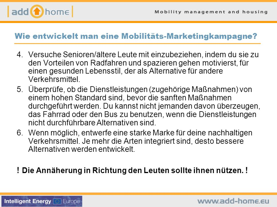 Wie entwickelt man eine Mobilitäts-Marketingkampagne.