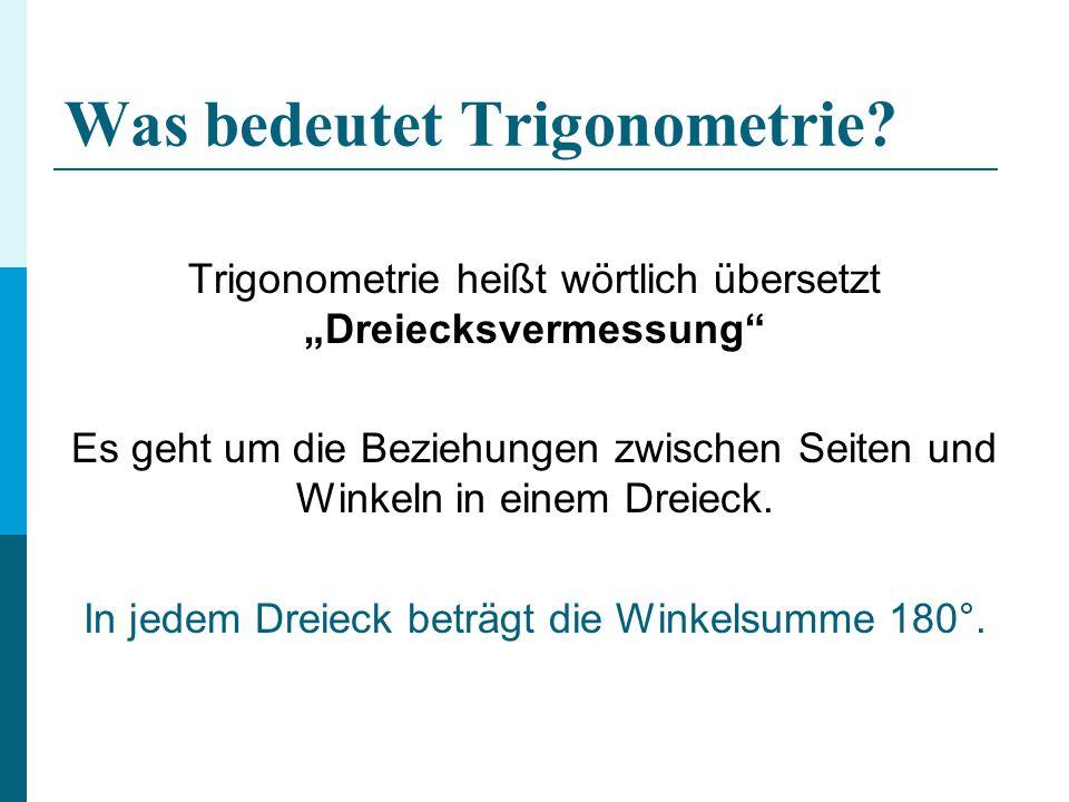 Was bedeutet Trigonometrie.