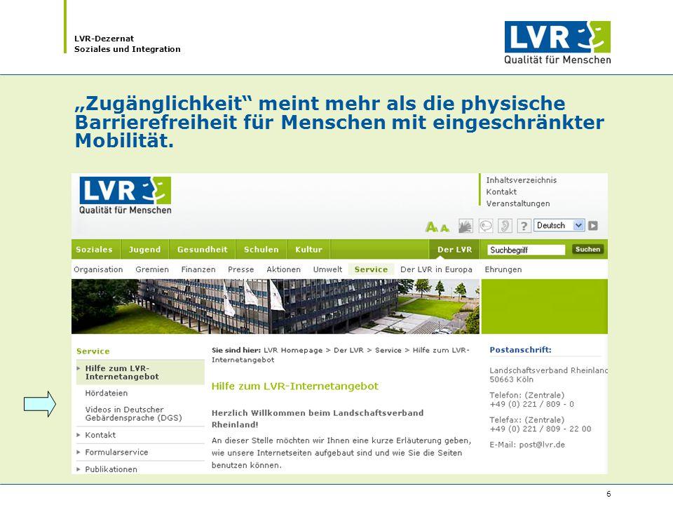 LVR-Dezernat Soziales und Integration 17 Wie geht es weiter.
