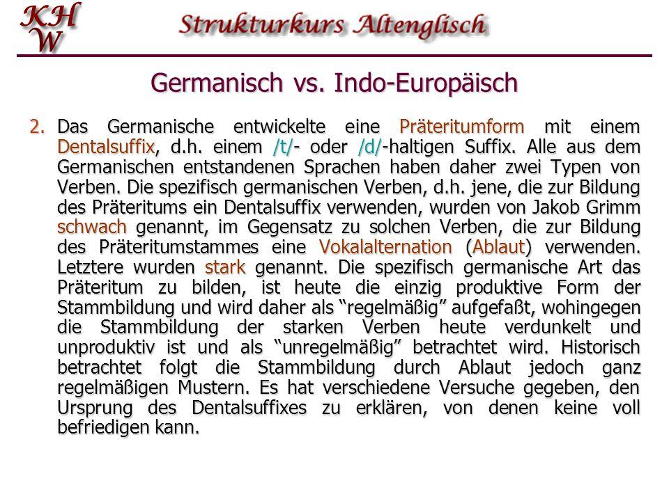 Germanisch vs.