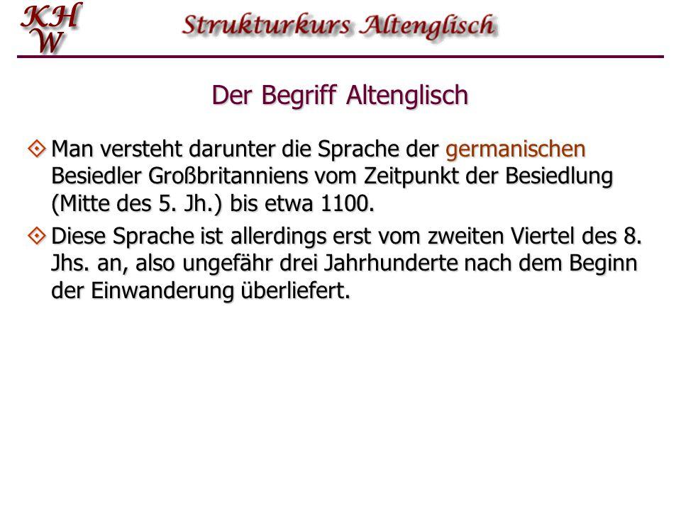 Strukturkurs Altenglisch