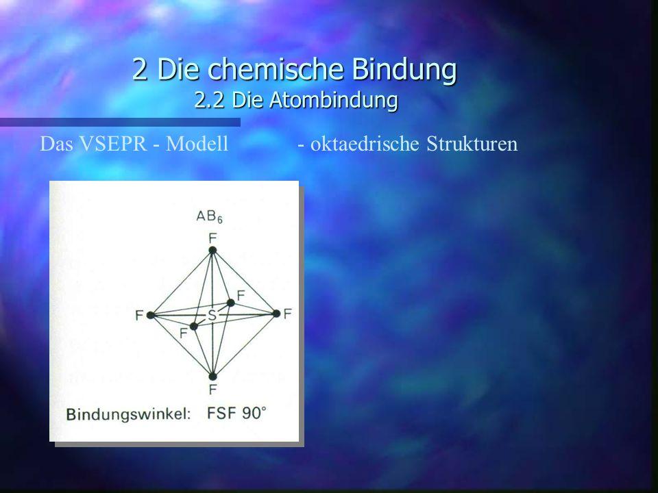 2 Die chemische Bindung 2.2 Die Atombindung Das VSEPR - Modell - oktaedrische Strukturen