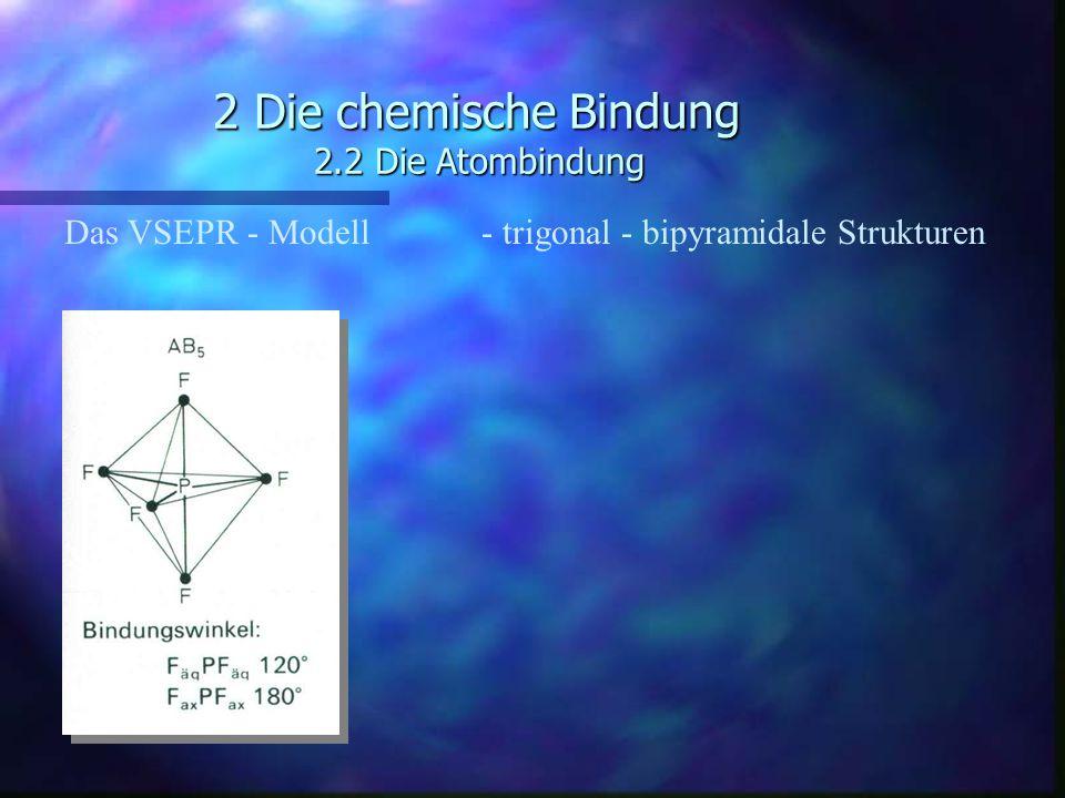 2 Die chemische Bindung 2.2 Die Atombindung Das VSEPR - Modell - trigonal - bipyramidale Strukturen