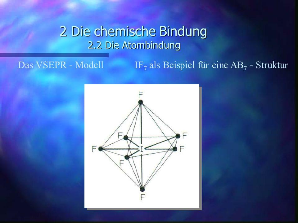 2 Die chemische Bindung 2.2 Die Atombindung Das VSEPR - ModellIF 7 als Beispiel für eine AB 7 - Struktur