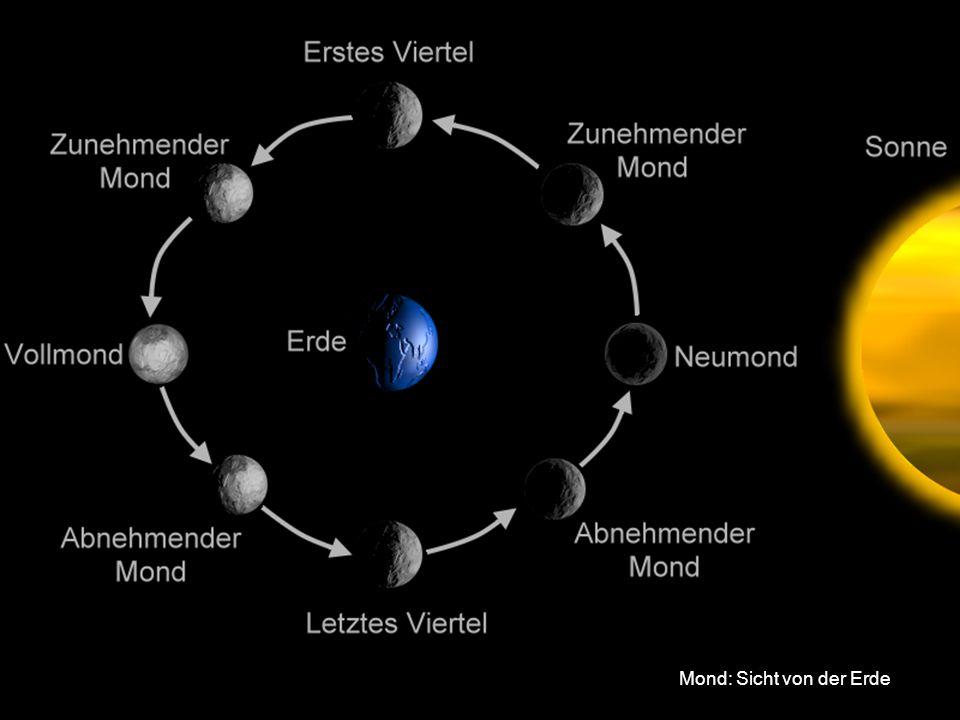 Mond: Sicht von der Erde
