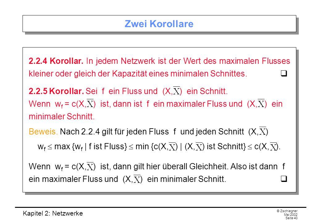 Kapitel 2: Netzwerke © Zschiegner Mai 2002 Seite 41 Ziel: Wert (max.