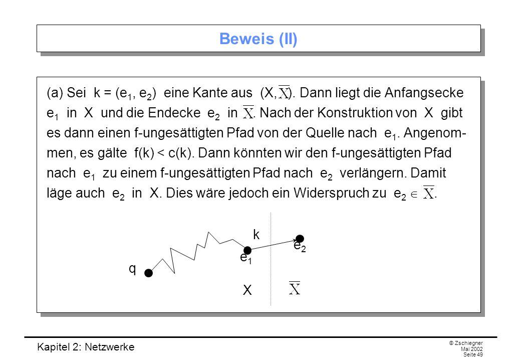 Kapitel 2: Netzwerke © Zschiegner Mai 2002 Seite 50 Beweis (III) (b).
