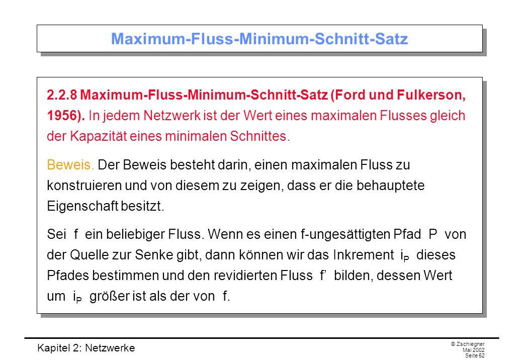 Kapitel 2: Netzwerke © Zschiegner Mai 2002 Seite 53 Beweis (I): Konstruktion eines max.