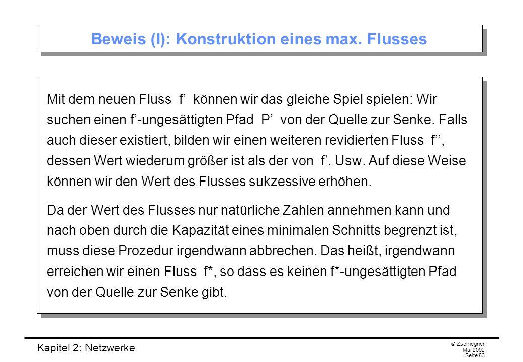 Kapitel 2: Netzwerke © Zschiegner Mai 2002 Seite 54 Beweis (II): Eigenschaften des max.