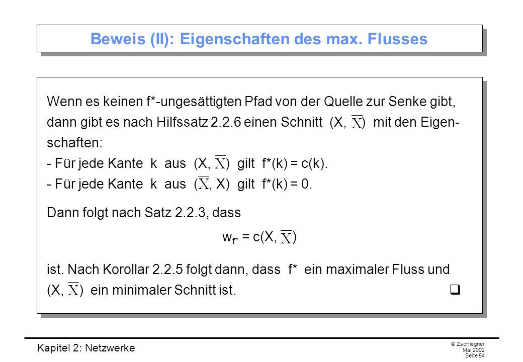 Kapitel 2: Netzwerke © Zschiegner Mai 2002 Seite 55 Algorithmus zur Konstruktion eines max.