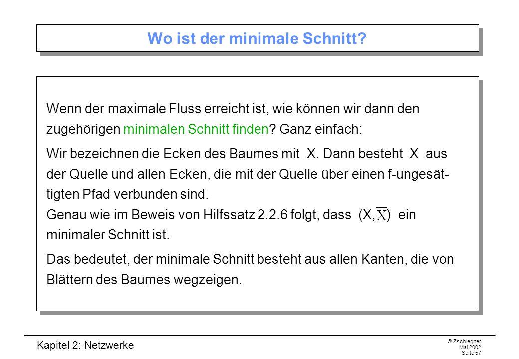 Kapitel 2: Netzwerke © Zschiegner Mai 2002 Seite 58 Beispiel zur Konstruktion eines max.