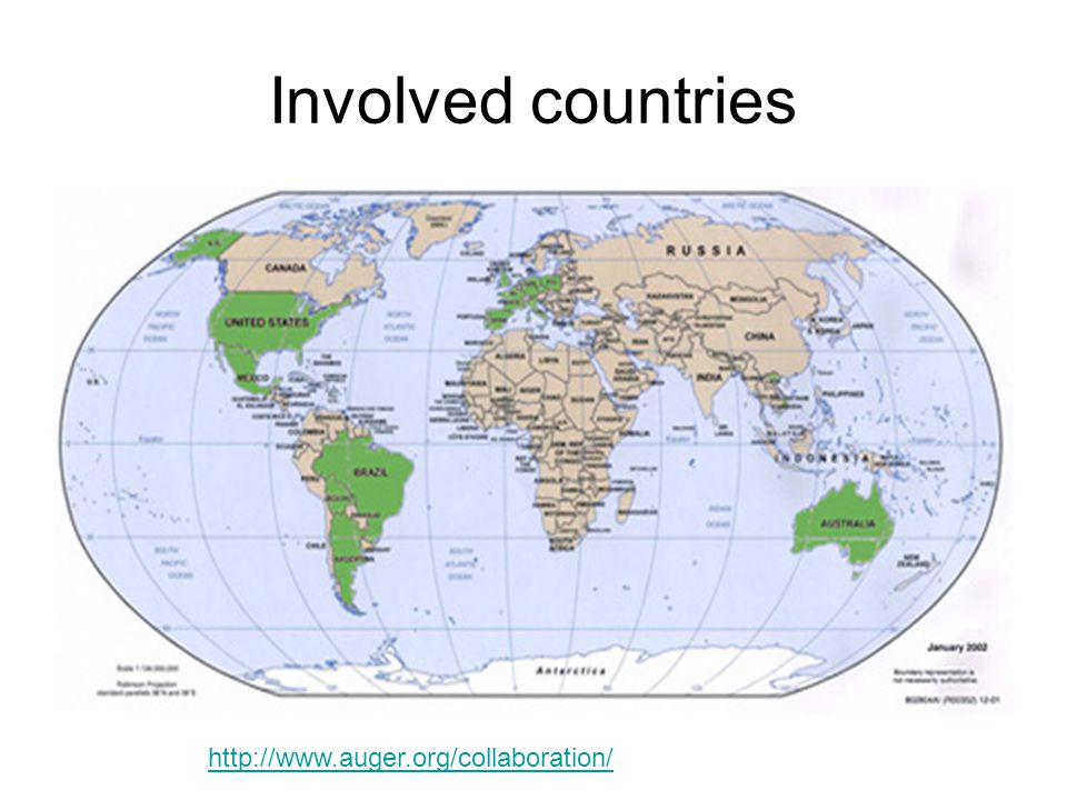 Involved countries http://www.auger.org/collaboration/