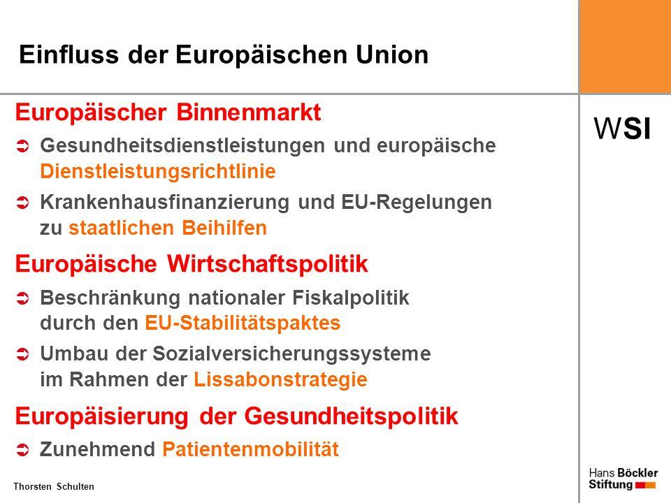 WSI Thorsten Schulten Einfluss der Europäischen Union Europäischer Binnenmarkt  Gesundheitsdienstleistungen und europäische Dienstleistungsrichtlinie