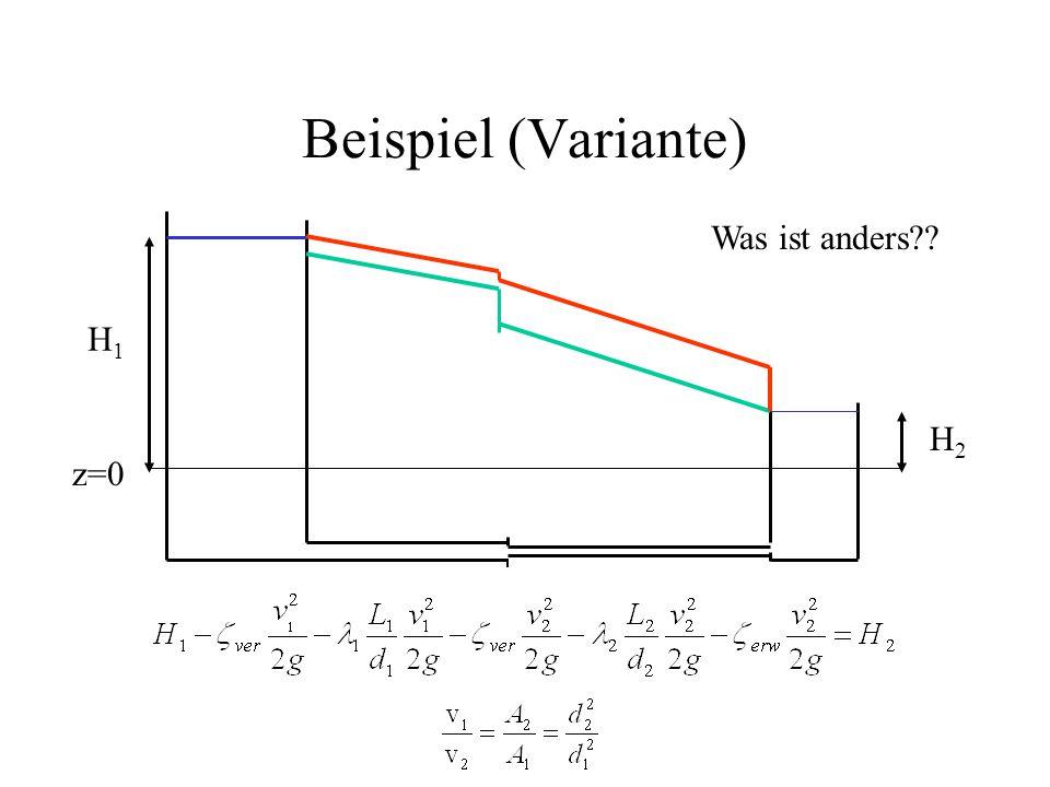 Beispiel (Variante) z=0 H1H1 H2H2 Was ist anders??