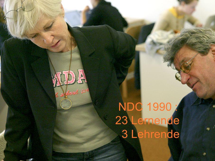 z.B. Giovanni de Faccio (Italien) NDC & NDU 2007 : 200 Lernende 50 Lehrende