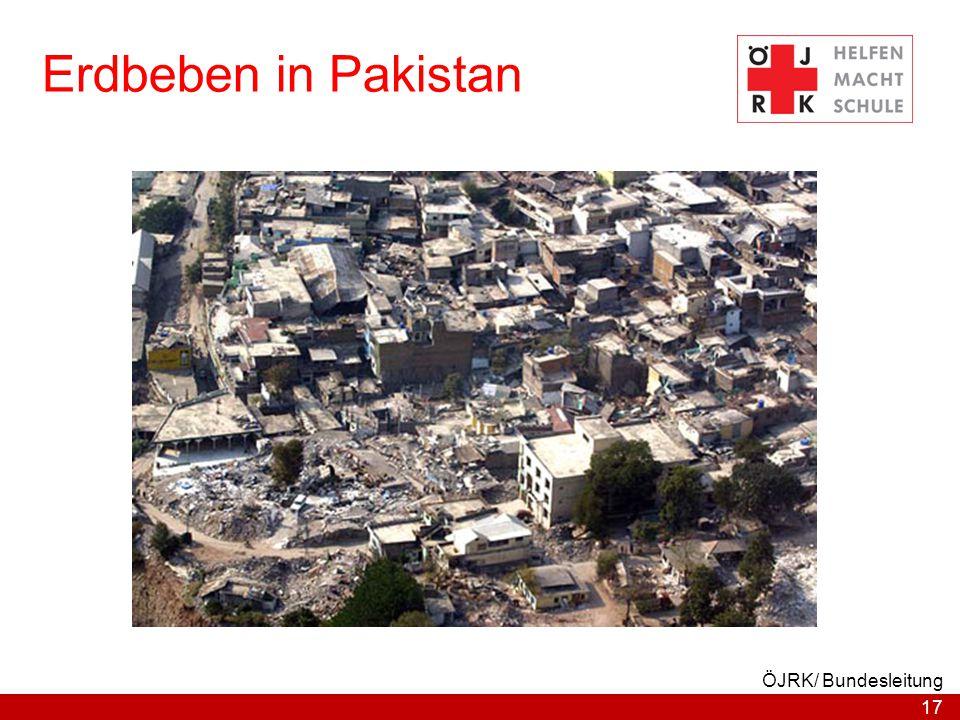 17 ÖJRK/ Bundesleitung Erdbeben in Pakistan