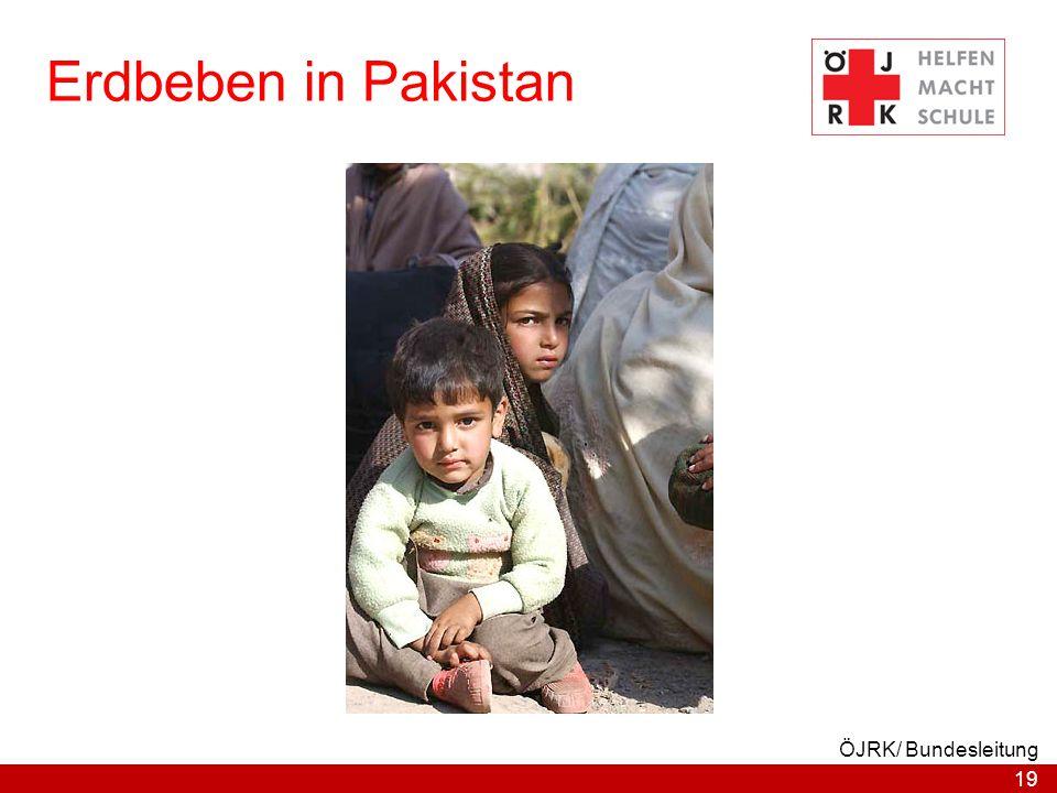 19 ÖJRK/ Bundesleitung Erdbeben in Pakistan