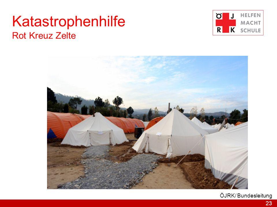 23 ÖJRK/ Bundesleitung Katastrophenhilfe Rot Kreuz Zelte