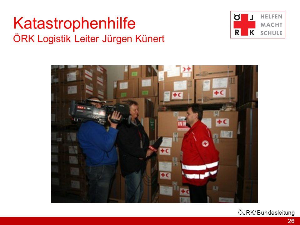 26 ÖJRK/ Bundesleitung Katastrophenhilfe ÖRK Logistik Leiter Jürgen Künert