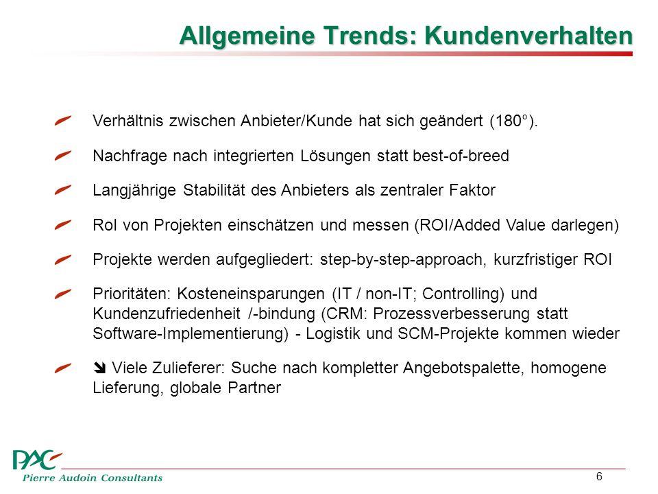 6 Allgemeine Trends: Kundenverhalten Verhältnis zwischen Anbieter/Kunde hat sich geändert (180°).