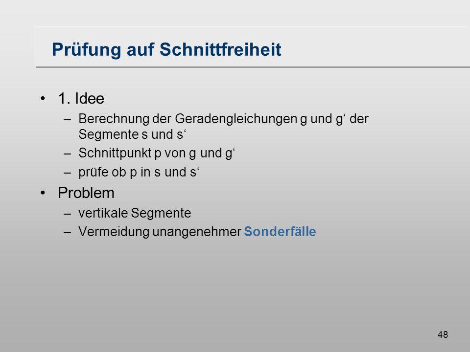 48 Prüfung auf Schnittfreiheit 1.