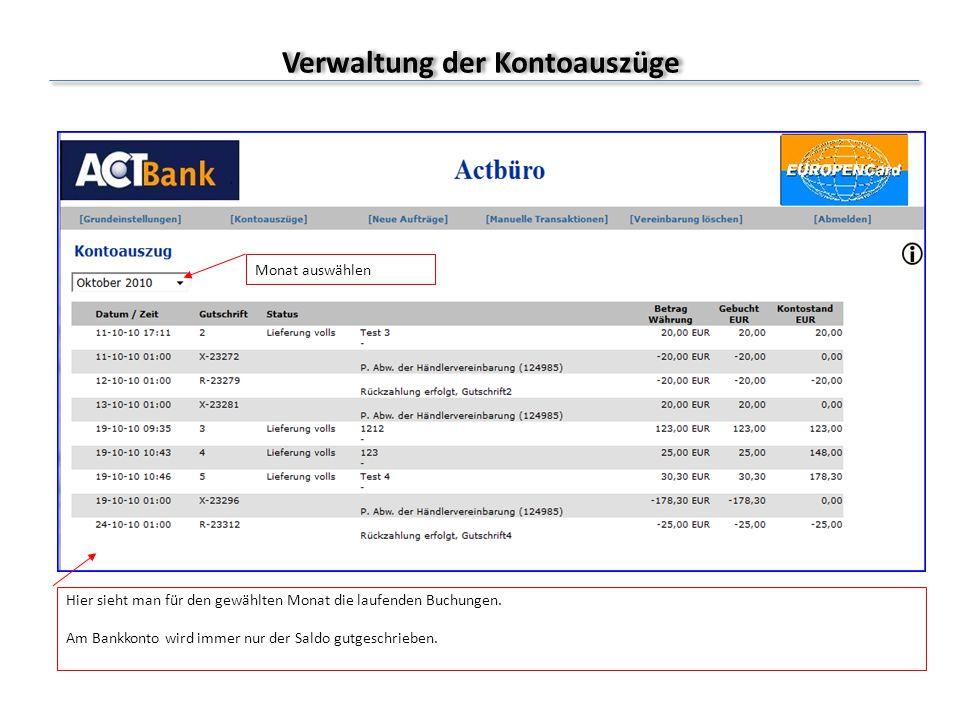 Manuelle Transaktion (Zahlungen veranlassen) Ablauf: 1.