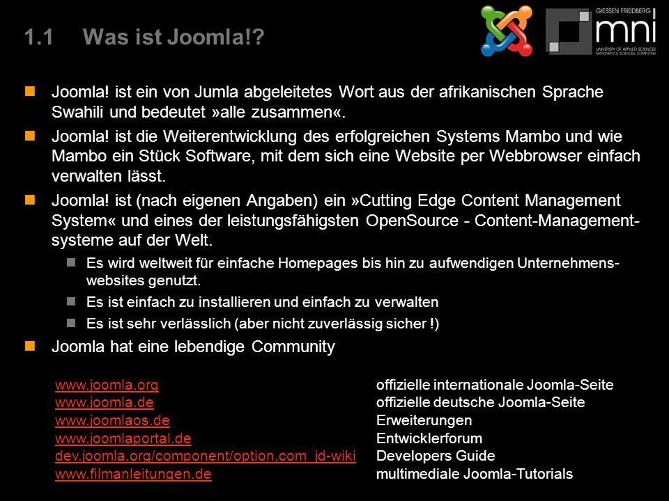 1.1Was ist Joomla!. Joomla.