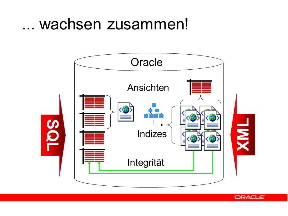 ... wachsen zusammen! SQL XML Integrität Ansichten Indizes Oracle