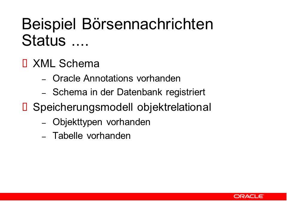 Beispiel Börsennachrichten Status....