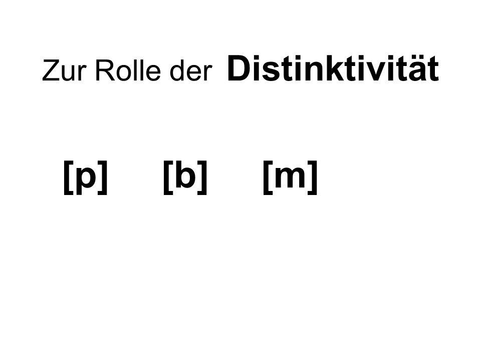 Zur Rolle der Distinktivität [p] [b] [m]