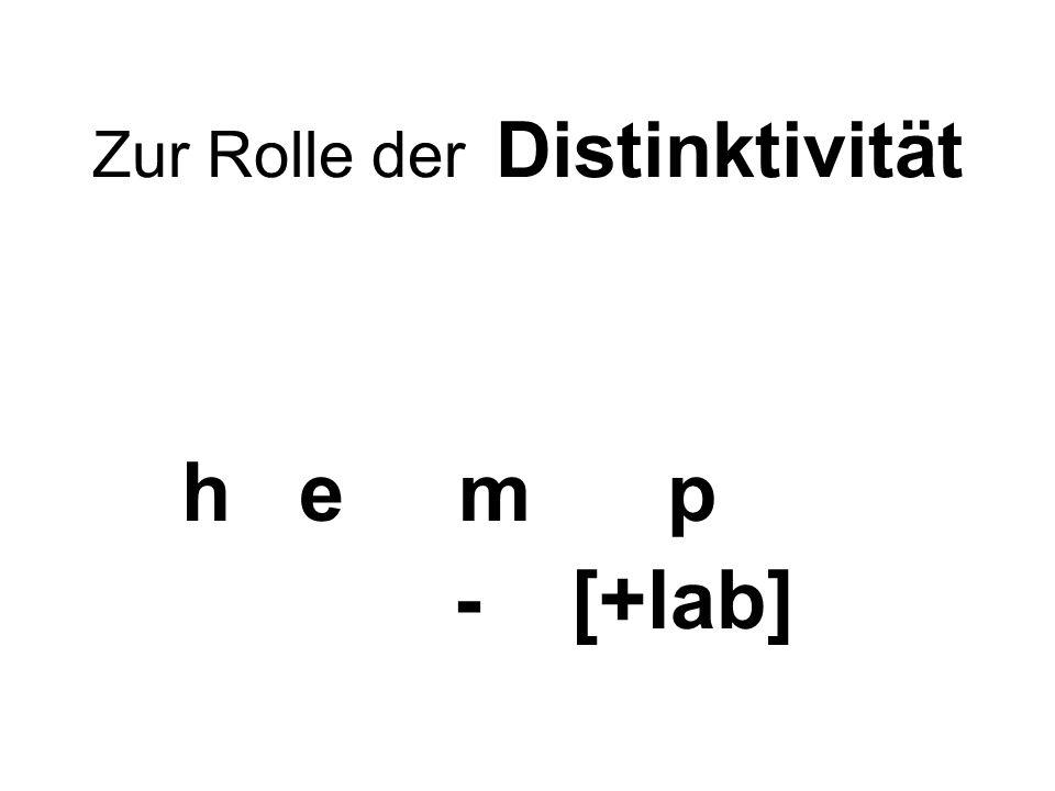 Zur Rolle der Distinktivität h e m p - [+lab]