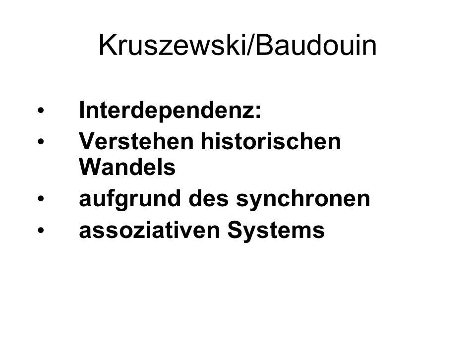 Kruszewski/Baudouin Interdependenz: Verstehen historischen Wandels aufgrund des synchronen assoziativen Systems