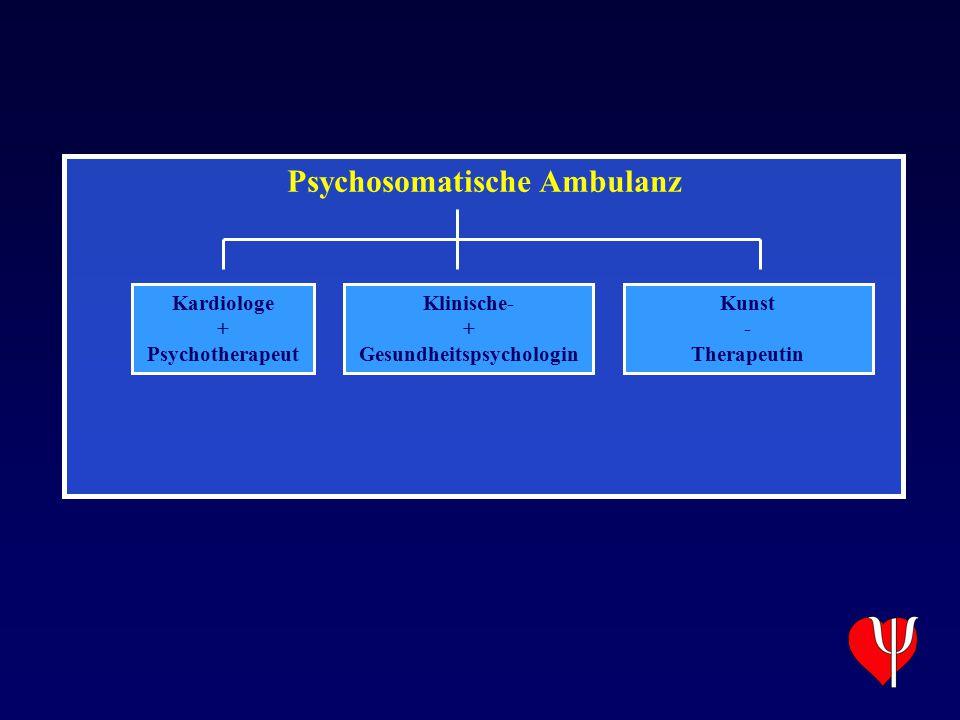 Psychosomatische Ambulanz Kardiologe + Psychotherapeut Klinische- + Gesundheitspsychologin Kunst - Therapeutin