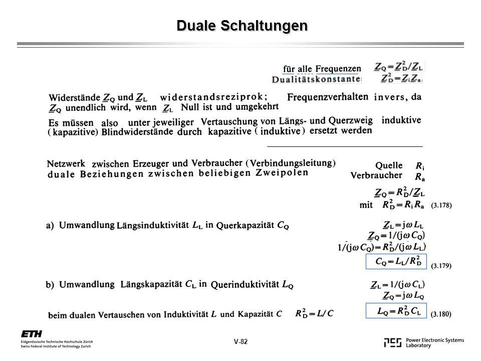 Duale Schaltungen V-82 ( )
