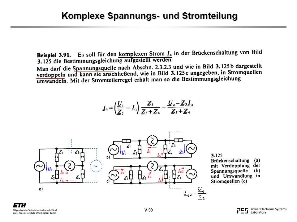 Komplexe Spannungs- und Stromteilung V-99 ~