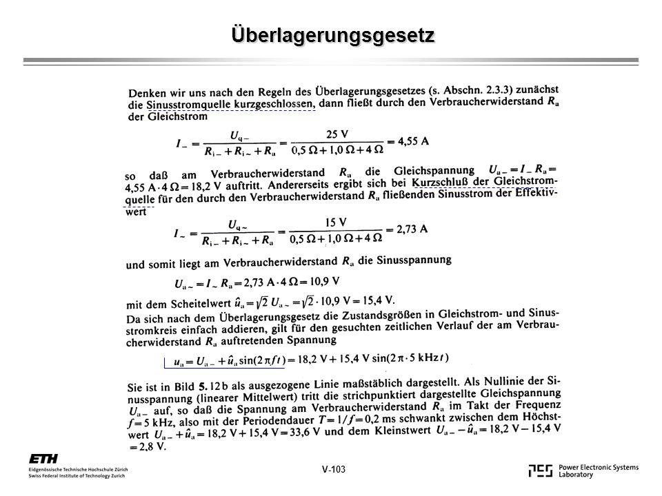 Überlagerungsgesetz V-103