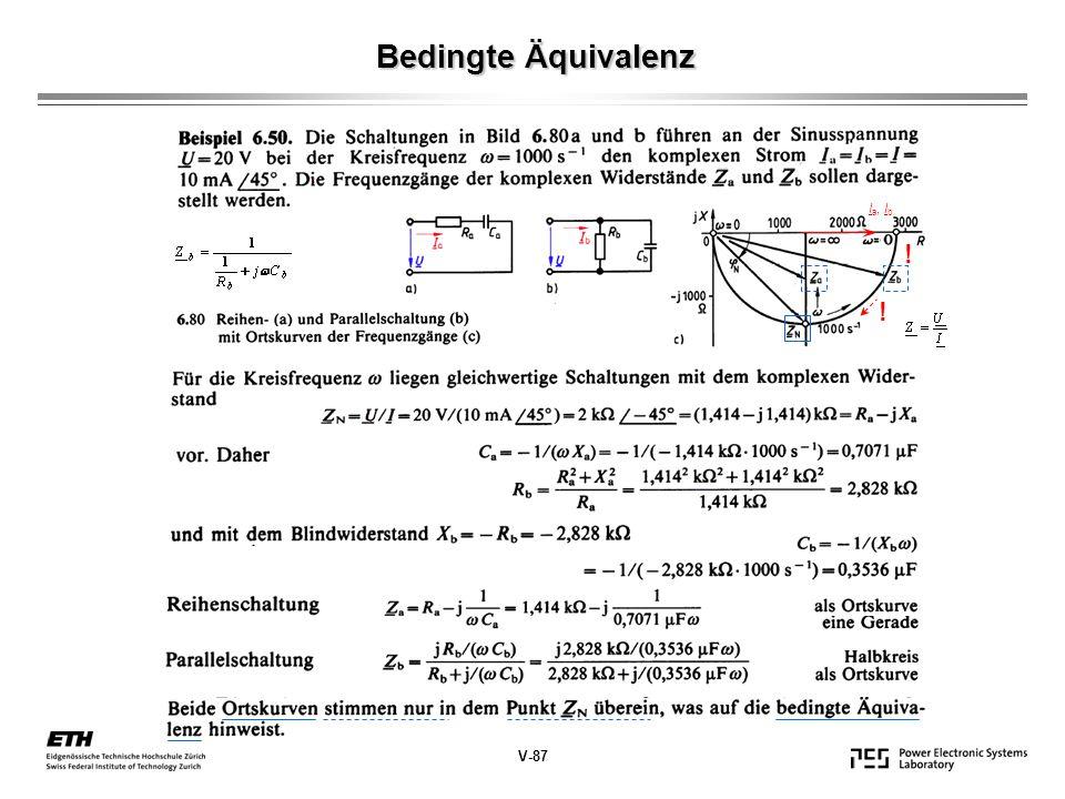 Bedingte Äquivalenz V-87 I a, I b ! !