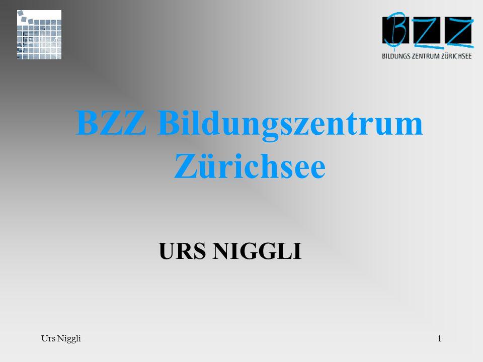 Urs Niggli1 BZZ Bildungszentrum Zürichsee URS NIGGLI