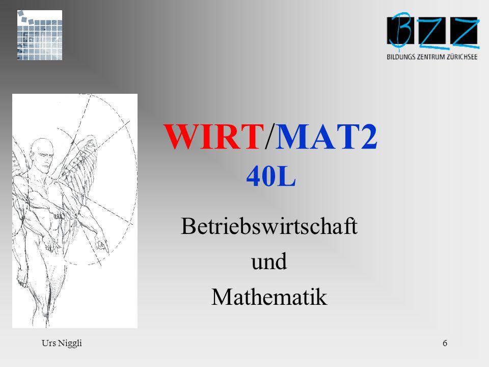 Urs Niggli16 WIRTSCHAFT 6 20L Der Sinn der finanziellen Rechnungslegung besteht darin, Informationen bereitzustellen, so dass sie analysiert und interpretiert werden können.