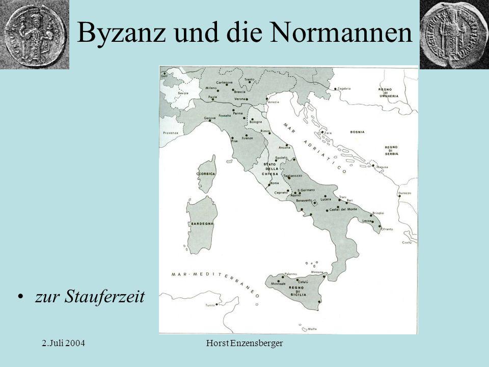 2.Juli 2004Horst Enzensberger Die Nachfolger –Die Orientpolitik Heinrichs VI.