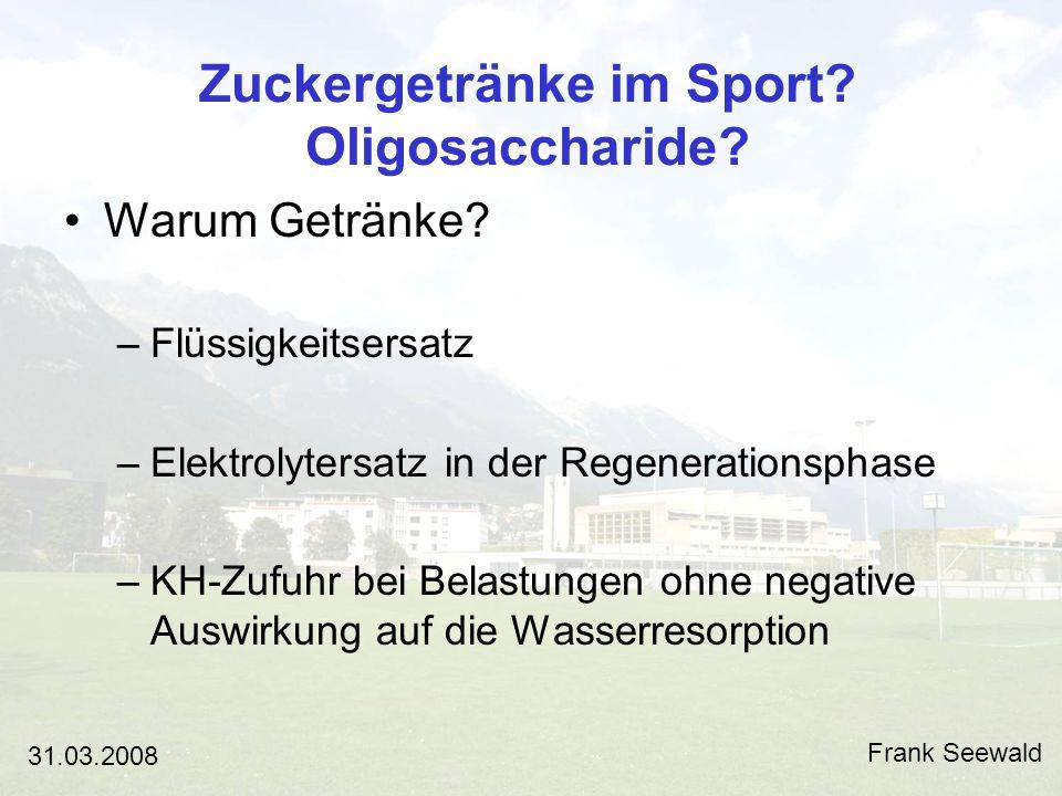 Zuckergetränke im Sport.Oligosaccharide.