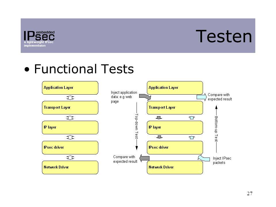 27 Functional Tests Testen