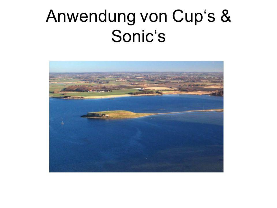 Anwendung von Cup's & Sonic's