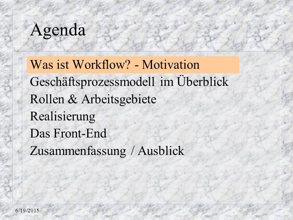 6/19/2015 Agenda Was ist Workflow.