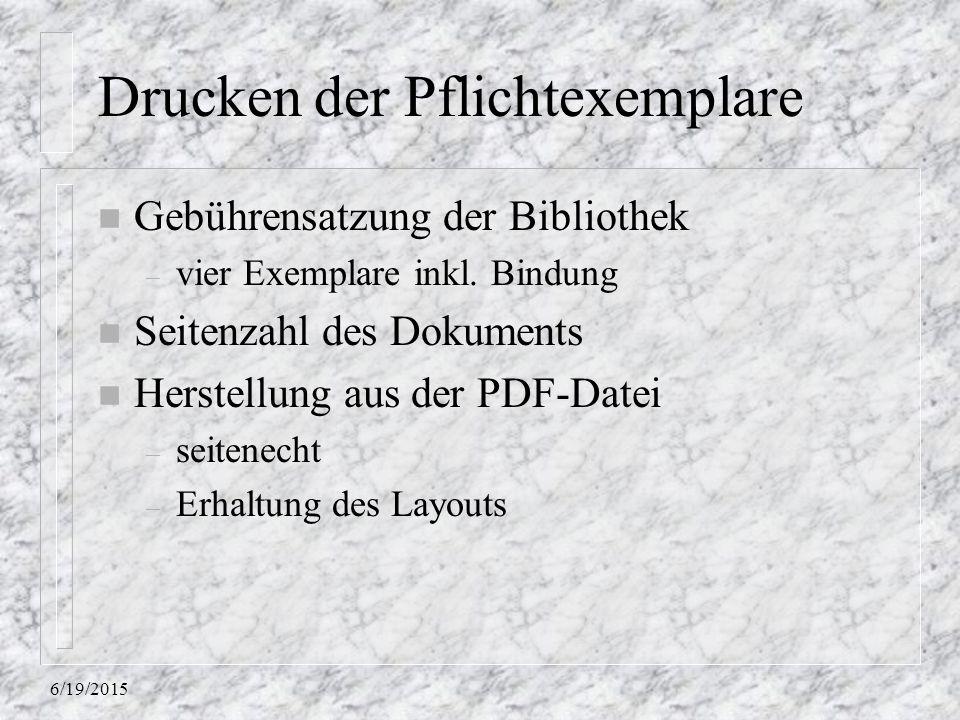 6/19/2015 Drucken der Pflichtexemplare n Gebührensatzung der Bibliothek – vier Exemplare inkl.