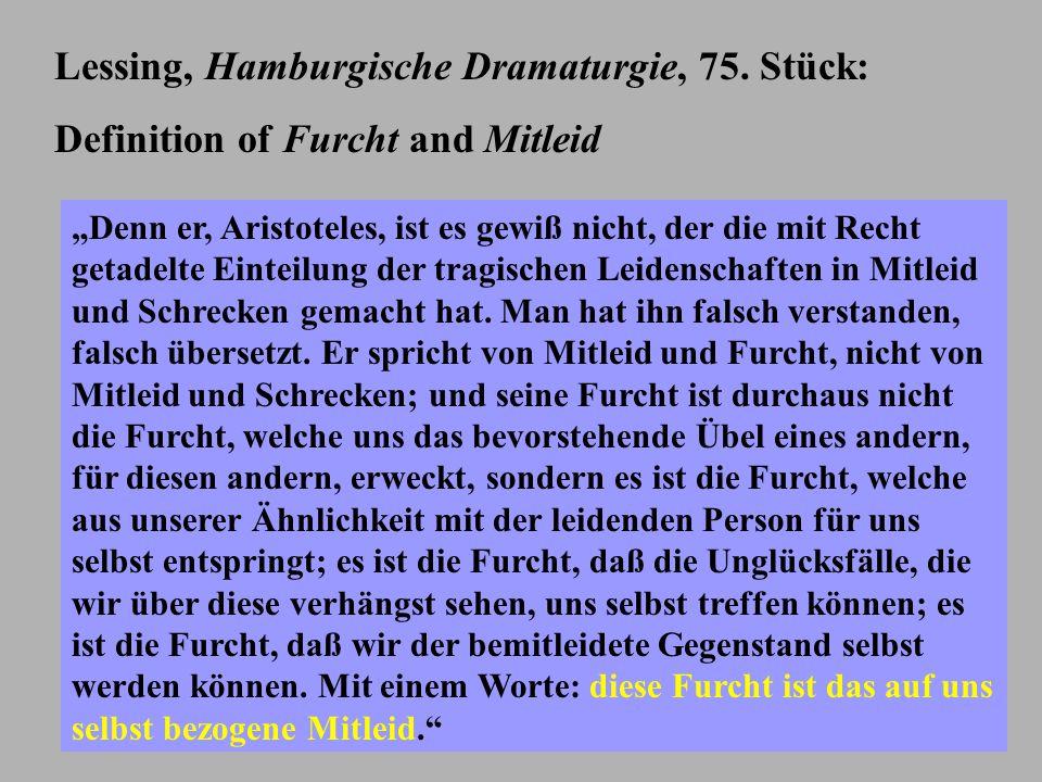 Lessing, Hamburgische Dramaturgie, 75.