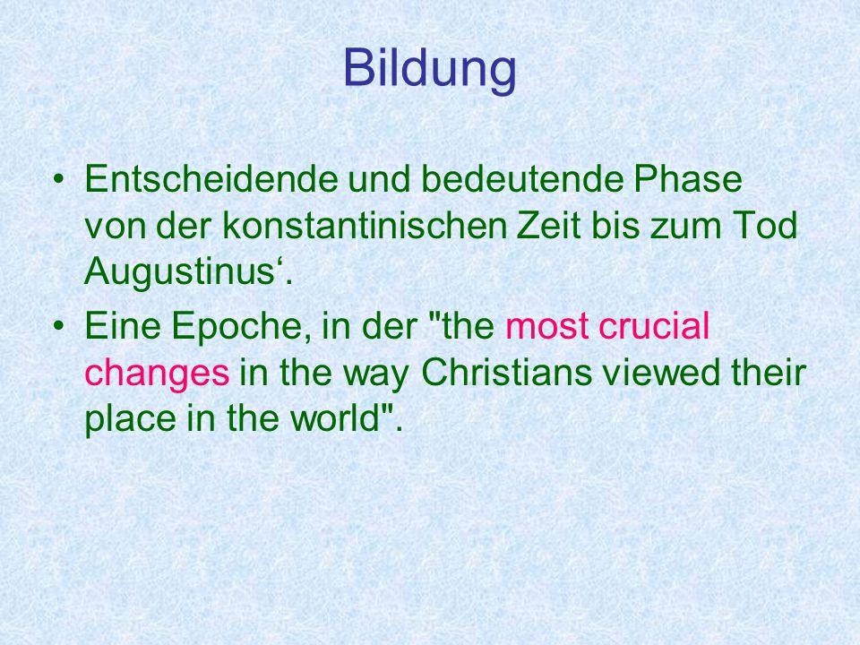 Weisheit und heidnische Bildung Gehorsamspostulat ► Das Christentum mußte auch im Unterricht und d.