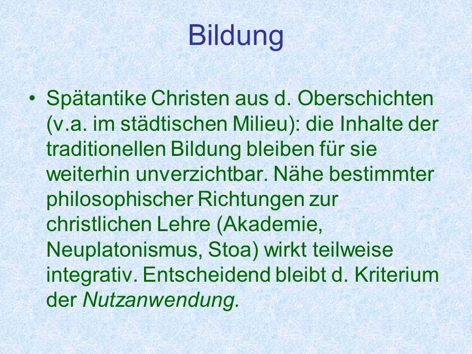 Niedergang und neuer Aufbruch In d.Epistola de litteris colendis faßt Karl der Große Sinn u.