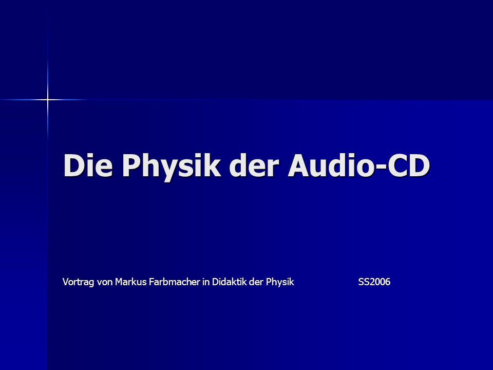 Die Physik der Audio-CD Vortrag von Markus Farbmacher in Didaktik der PhysikSS2006